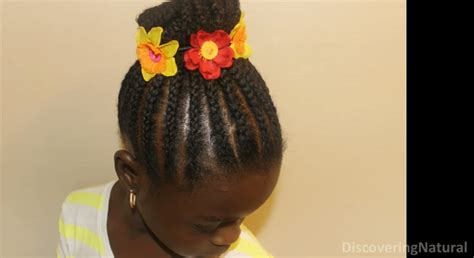 cornrow braided bun hairstyles for black women 10 cute braids for kids how to do tutorial ideas pictures