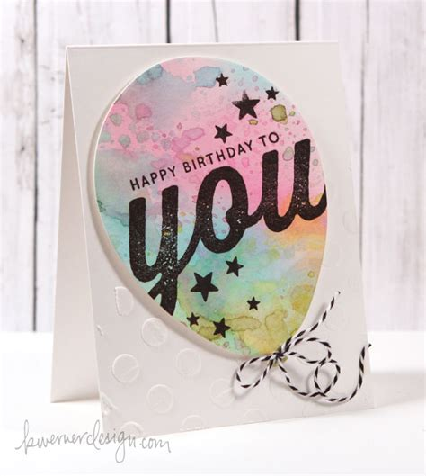 Birthday Card Watercolor Simon Says St Spring 2014 Release Blog Hop Giveaway