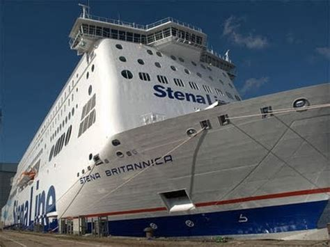 biggest ferry boat in the world worlds largest ferry stena britannica youtube