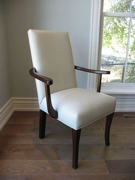 white leather arm chair canadian wood design