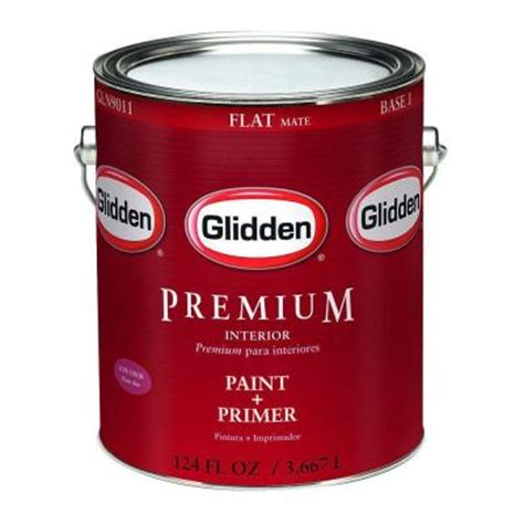 home depot 5 gallon interior paint glidden premium 5 gal flat interior paint gln9000 05