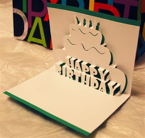 birthday popup card template happy birthday pop up card 4 75 via etsy diy crafts