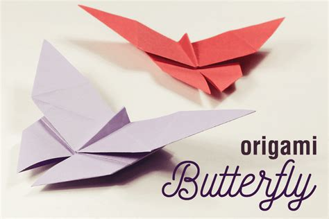 Easy Origami Butterfly - how to make an easy origami butterfly