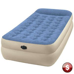 intex twin raised air bed mattress inflatable blow