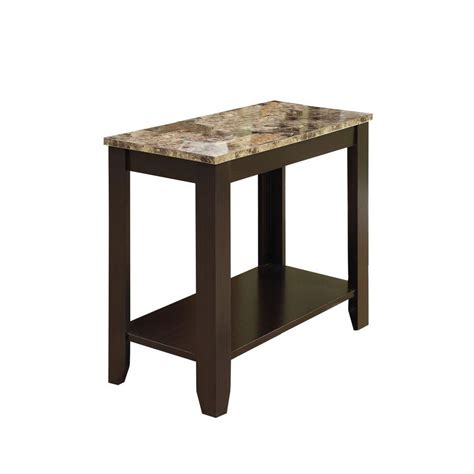 marble top accent tables monarch specialties accent table cappuccino marble top