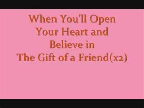 printable lyrics to gift of a friend by demi lovato gift of a friend lyrics demi lovato lyrics youtube