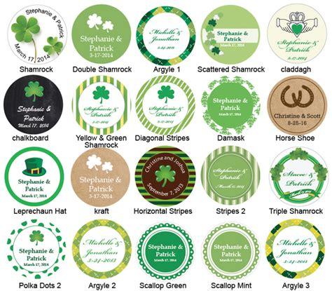 label design ireland irish tin favor kit irish wedding theme favors wedding