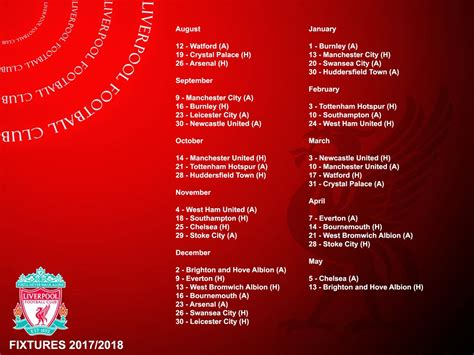 arsenal home fixtures full 2017 18 premier league fixtures for man utd