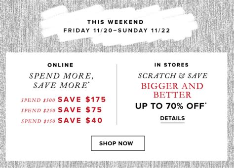 Hudson S Bay Canada Offers Save Up To 50 Select - hudson s bay canada weekend spend more save more offers