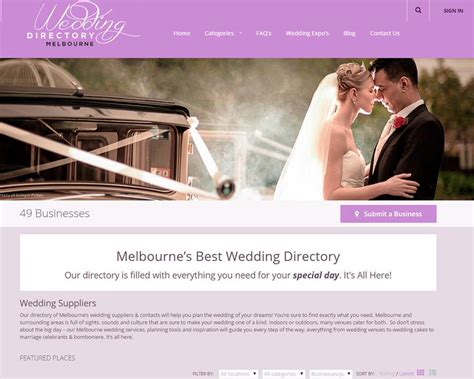 Wedding Directory by Wedding Directory Melbourne By Aaa Web Design Aaa Web Design