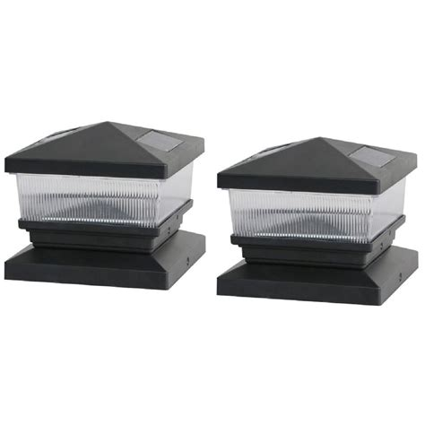 home depot solar deck post caps deck impressions solar black post cap with 6 in x 6 in