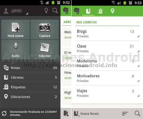 tutorial evernote android comparativa y an 225 lisis de aplicaciones android