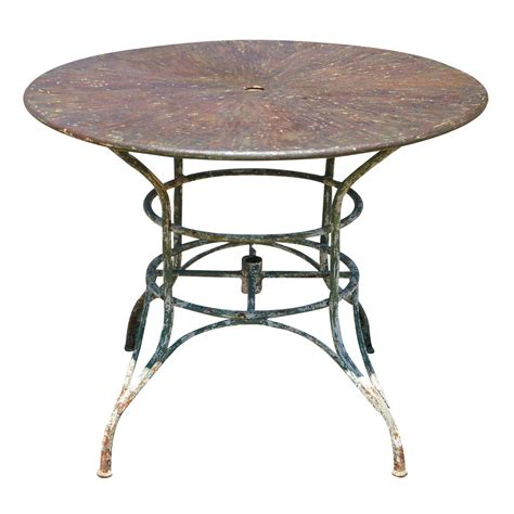 Patio Table Umbrellas Umbrella Metal Garden Table At 1stdibs