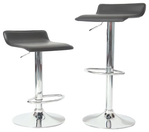 pair of 2 black counter height bar stools 24in 101039blk ediors adjustable height bar stool set of 2 modern