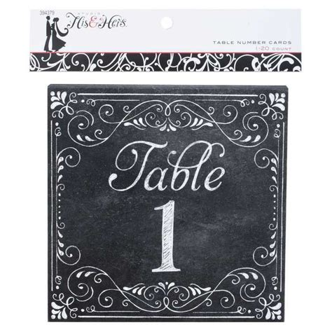 Chalkboard Table Number Cards   Wedding Stuff