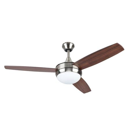 harbor breeze 3 blade fan shop harbor breeze beach creek 44 in brushed nickel