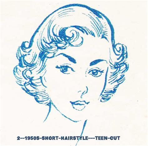1950s hairstyles chart for your hair length glamourdaze