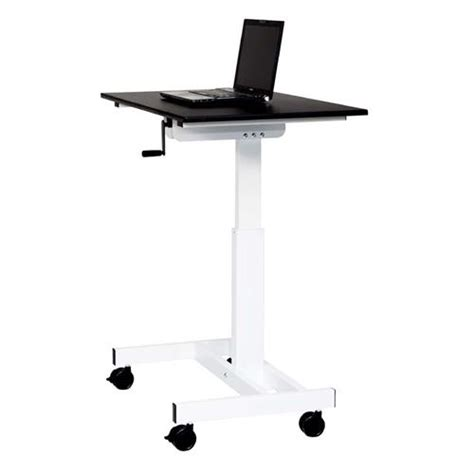 white stand up desk luxor adjustable height stand up desk black and white