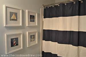 nautical bathroom decor ideas nautical bathroom makeover the cards we drew