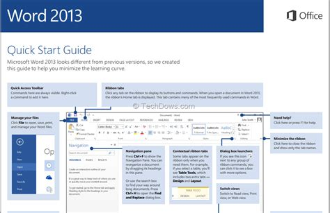 quick layout word 2013 download microsoft office 2013 quick start guides in pdf