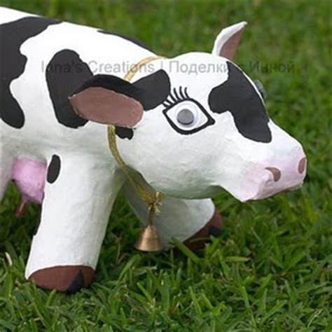 How To Make A Paper Mache Cow - 17 best images about paper mache on a cow