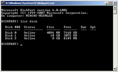 diskpart format command exle boot disk utilities partition manager