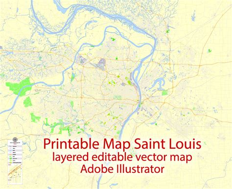 us zip code map printable louis printable map missouri us exact vector map