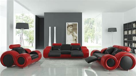 black and red living room furniture canap 233 3 2 1 monaco design personnalisable pas cher
