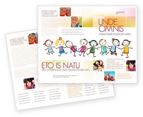 preschool flyers design brochure template