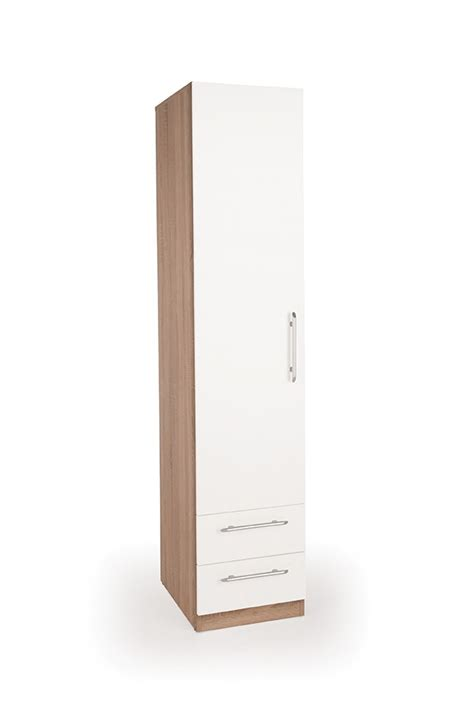 1 Door Wardrobe With Drawers by Connect Hyde 1 Door Wardrobe With 2 Drawers