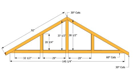 hip roof house plans to build woodworking projects plans truss patterns large shed roof plans projects to try