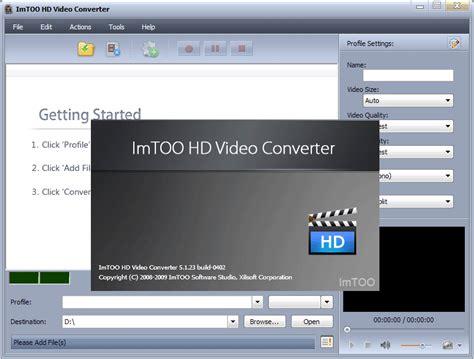 hd video converter software full version free download imtoo hd video converter free download latest full version