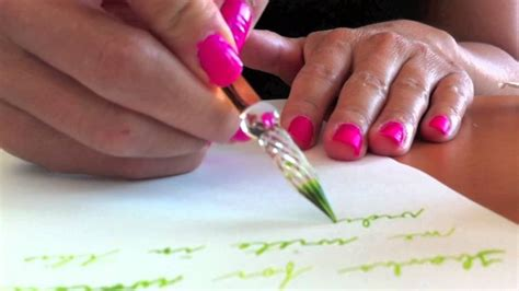 how to remove ink writing from paper handwriting with glass pen and ink