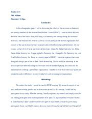 Ethnographic Essay Introduction by Anthro 2 Ethnography Paper Draft Tomika Levi Nick