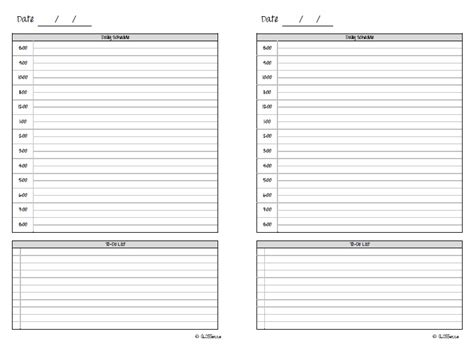 free printable day runner pages 6 best images of free printable day runner pages day
