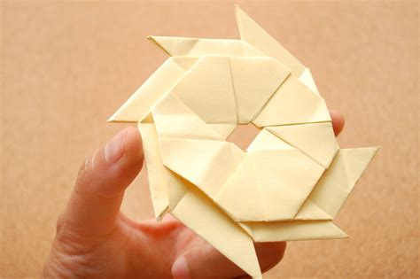 Banknote Origami - how to make a sticky note shuriken 9 steps with pictures