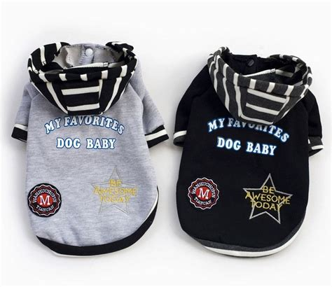 puppy clothes boy cotton striped hoodie coat sweater jacket jumper small boy clothes s ebay