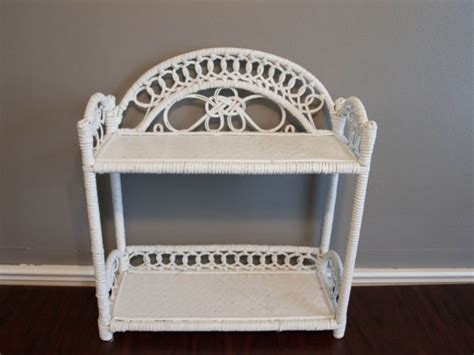 Bathroom Wicker Furniture White Wicker Shelf Wicker Shelf Bathroom Shelf By Bettysantiques