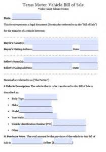 car bill of sale form texas pictures to pin on pinterest