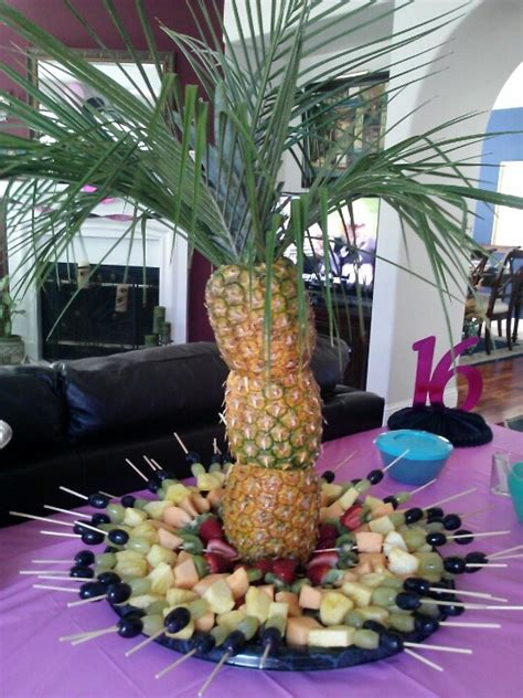 pineapple fruit tree stand 17 best images about luau buffet table on luau