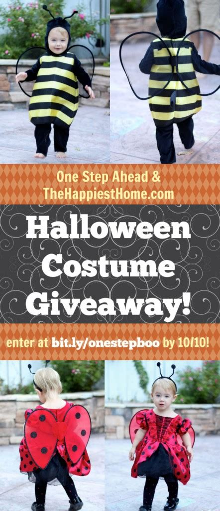 Halloween Costume Giveaway - win a halloween costume treat bag from one step ahead the happiest home