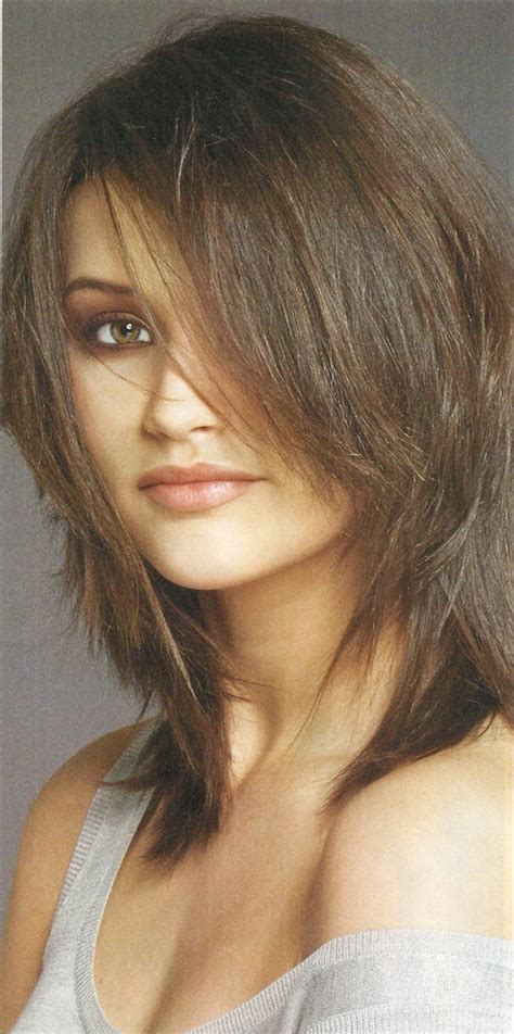 shag mid length haircut photos shoulder length choppy layered haircuts