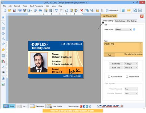 id design maker id card maker software generates employee student visitor