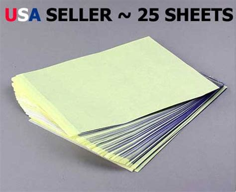 How To Make Transfer Paper - 25 sheets carbon stencil transfer paper brand new