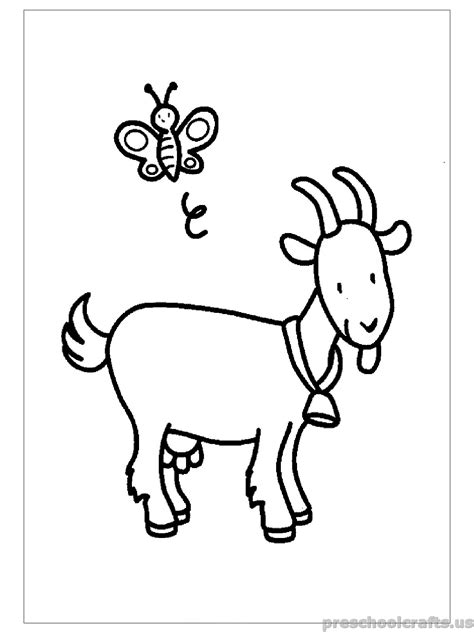 coloring pages for primary school free printable goat coloring pages for primary school