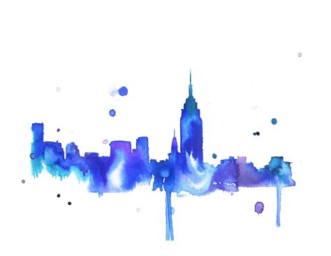 watercolor tattoo new york city watercolor travel illustration new york you print