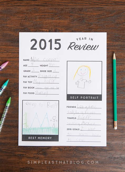 new year review 2015 year in review printable for