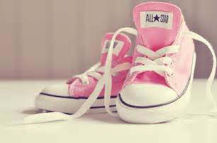baby shoes converse pink image 586106 on favim
