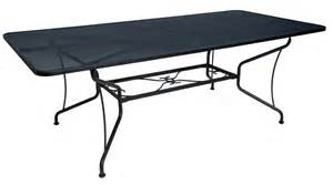mesh patio table umbrella table micro mesh rectangular umbrella table