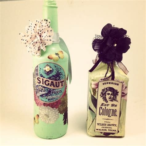 tutorial decoupage botol tutorial recycled altered decoupage bottles 187 dollar